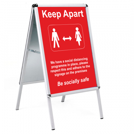 Social Distancing Outdoor Posters - A2