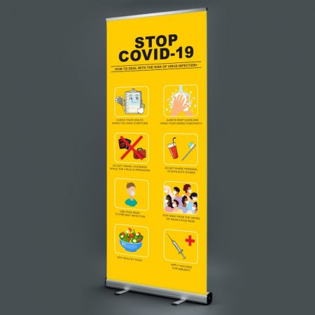 Social Distancing Pull Up Banner - How to Deal with the Risk
