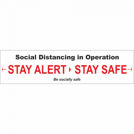 Social Distancing Banner White