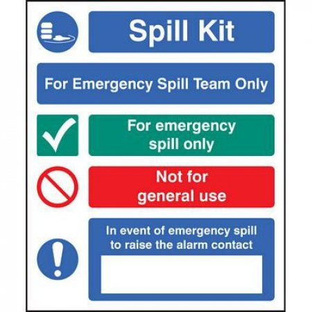 For Emergency Spill Team Only - Self Adhesive Vinyl