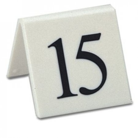 Styrene Table Numbers White
