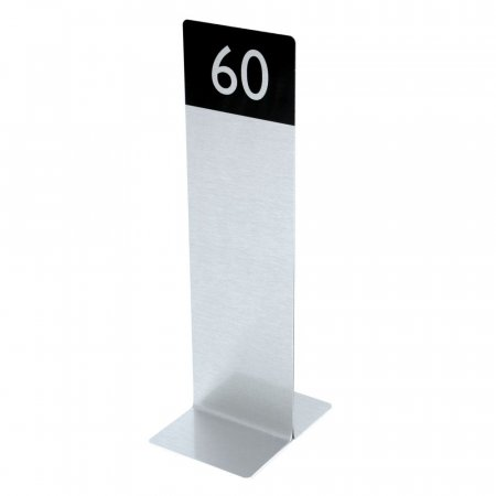 Brushed Silver Table Numbers