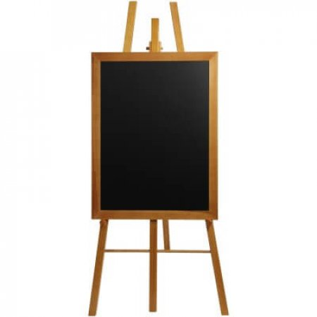 Tall Teak Easel with Black Board
