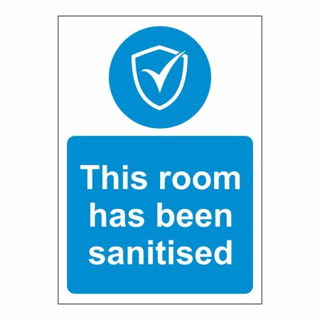 This Room has been Sanitised
