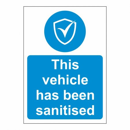 This Vehicle has been Sanitised