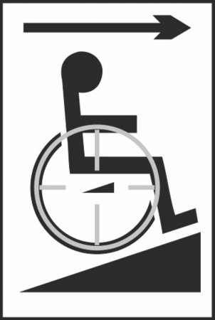 Disabled Access with Ramp Braille Sign