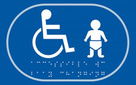 Disabled Toilet and Baby Change Braille Sign