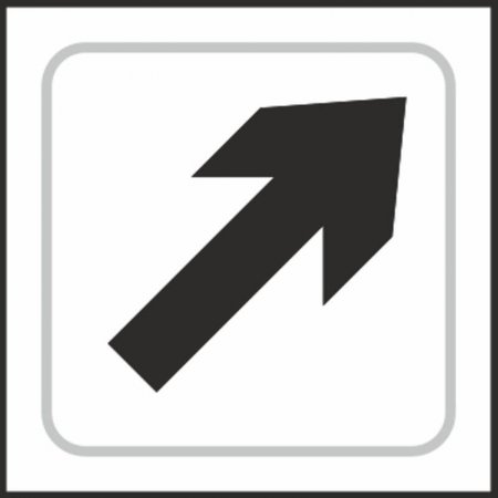 Upright Arrow Braille Sign