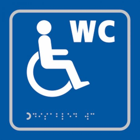 Disabled WC Toilet Braille Sign