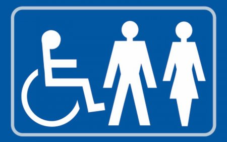 Disabled, Gentlemen and Ladies Toilet Braille Sign