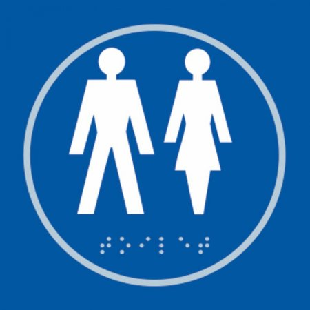 Gentlemens and Ladies Toilet Braille Sign