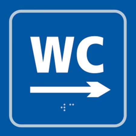 WC Toilet Braille Sign