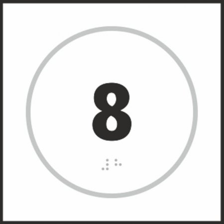 Number Eight Braille Sign