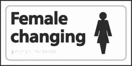 Female Changing Braille Sign