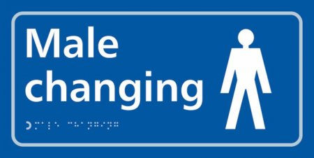Male Changing Braille Sign