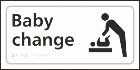 Baby Change Braille Sign