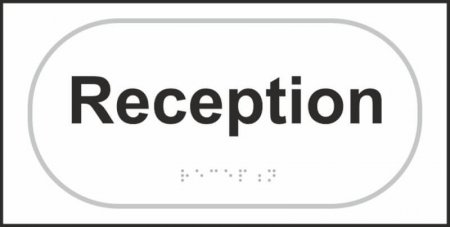 Reception Braille Sign
