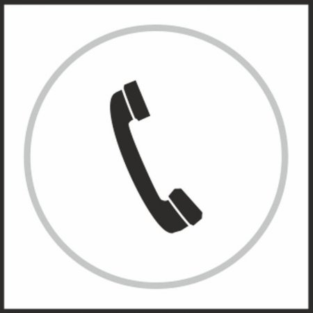 Telephone Braille Sign