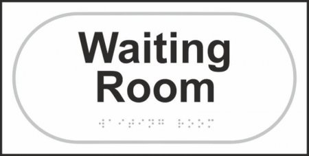 Waiting Room Braille Sign