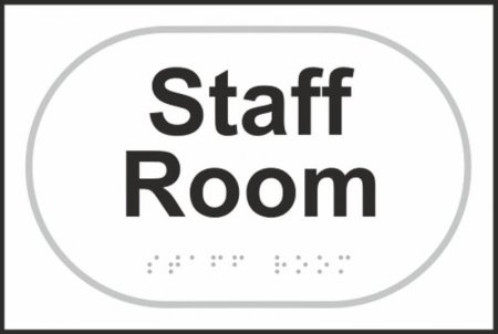 Staff Room Braille Sign