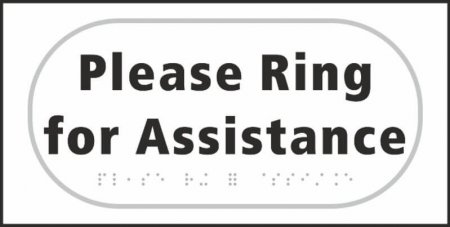 Please Ring for Assistance Braille Sign