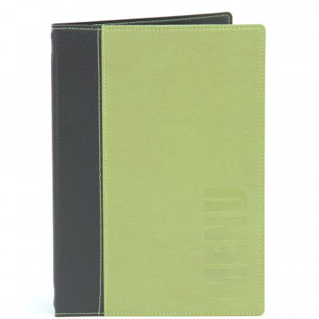 Green  Trendy Croc Menu Cover