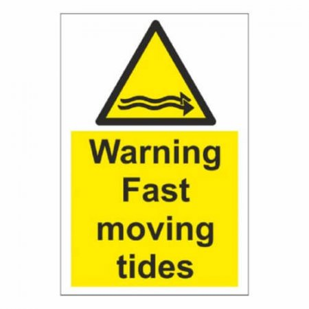 Warning Fast Moving Tide Signs