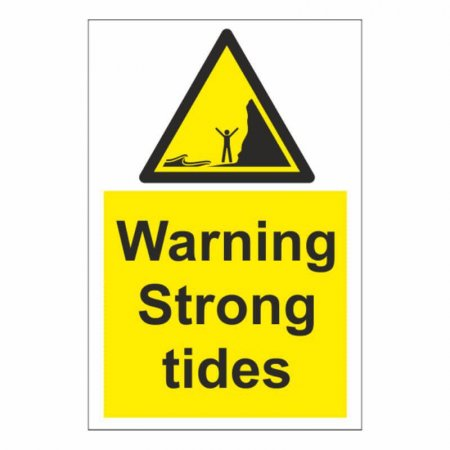 Warning Strong Tide Sign