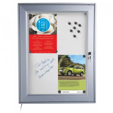 Waterproof LED Lockable Noticeboard