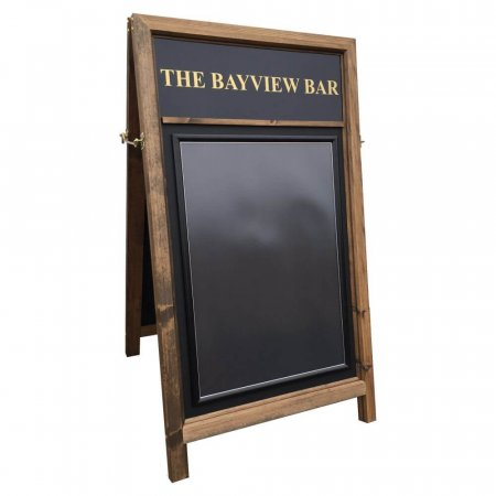 Westminster Wooden A-board - Gold Personalisation