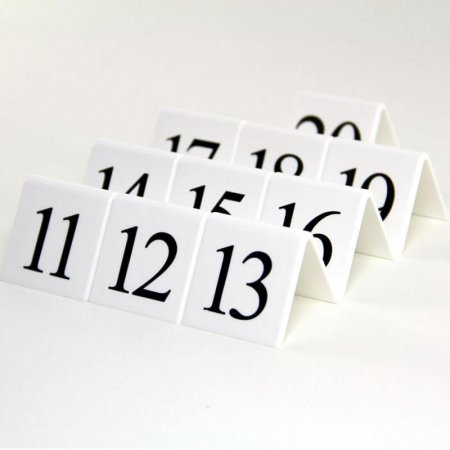 White Table Numbers 11-20
