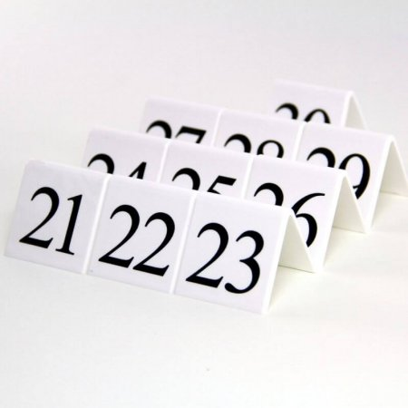 White Table Numbers 21-30