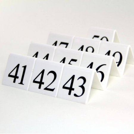 White Table Numbers 41-50