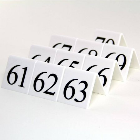 White Table Numbers 61-70