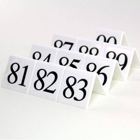 White Table Numbers 81-90