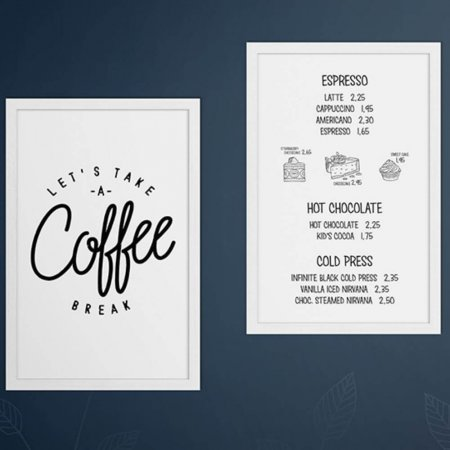 Double Sided White Wall Chalkboards