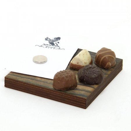 Magnetic Wooden Bill & Chocolate Tray