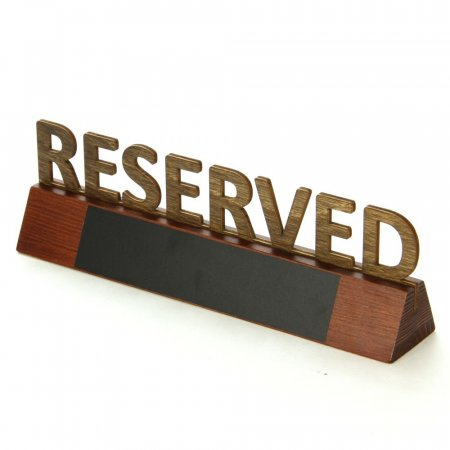 Wooden Cut Out Reservation Sign with Chalkboard