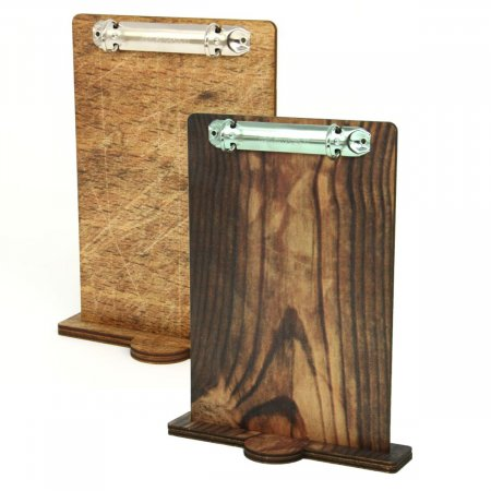 Wooden Menu Board with Ring Binder