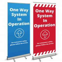 Pull Up Banner - One Way In Operation