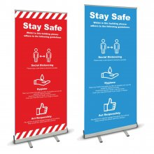 Pull Up Banner - Stay Safe