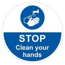 STOP Clean Your Hands Sign