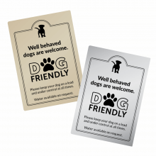 Well Behaved Dogs are Welcome Sign