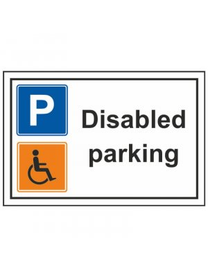Disabled resident at number 26 1 x A4 dibond sign