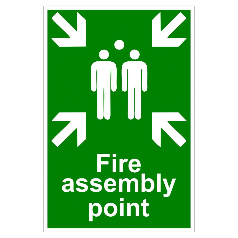 Fire Asssembly Point Aluminium Composite Panel 400mm x 400mm