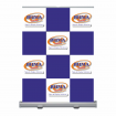 Video Conferening Backdrop with checkerboard and logo