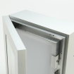 Aluminium Menu Case, Door Open
