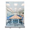 Video Conferening Backdrop with conference room print