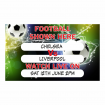 Football Match Drywipe Sign with Writing