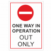 Social Distancing Traffic Signs - Out Only